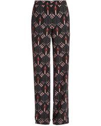 Valentino - Love Blade-print Silk Trousers - Lyst
