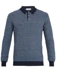 Boglioli - Point-collar Knitted Polo Shirt - Lyst