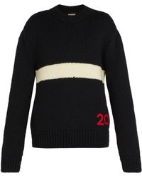 CALVIN KLEIN 205W39NYC - Logo-embroidered Wool Jumper - Lyst