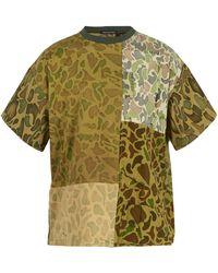 Longjourney   Oversized Paneled Camouflage-print Cotton T-shirt   Lyst