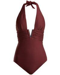 Heidi Klein - Monaco V-bar Ribbed Swimsuit - Lyst