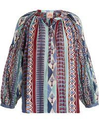 Le Sirenuse - Sun Arlechino Print Cotton Shirt - Lyst
