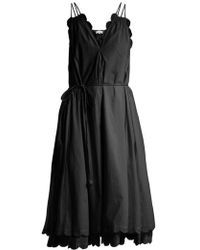 Apiece Apart - Mirage Scalloped Cotton-poplin Dress - Lyst
