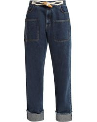 JW Anderson - Toggle Detail Straight Leg Jeans - Lyst