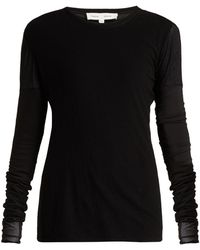 Proenza Schouler - Long-sleeved Cotton-gauze Top - Lyst