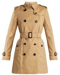 Burberry - Kensington Cotton Gabardine Trench Coat - Lyst
