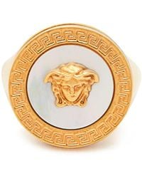 Versace - Medusa Mother-of-pearl Signet Ring - Lyst