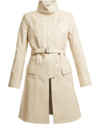 Chloé - High-neck Belted Leather Jacket - Lyst