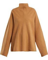 ROKSANDA - Keru High Neck Wool Sweater - Lyst