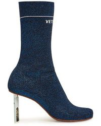 Vetements - Lighter-heel Sock Ankle Boots - Lyst