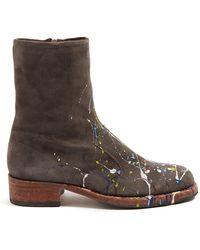 Maison Margiela - Replica Print-effect Suede Boots - Lyst