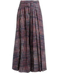 Stella Jean | High-rise Pleated Checked Culottes | Lyst