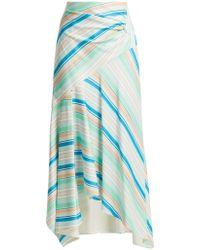 Peter Pilotto - Striped Asymmetric Jersey Skirt - Lyst