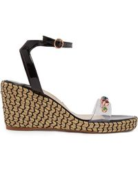 Sophia Webster - Multicoloured Dina 90 Wedge Sandals - Lyst