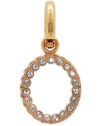 Burberry - O Crystal Embellished Letter Charm - Lyst