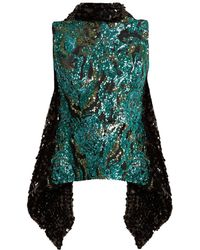 Halpern - Sequin-embellished Open-back Top - Lyst