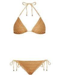 Missoni - Metallic-knit Halterneck Bikini - Lyst