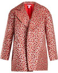 Oscar de la Renta | Poppy-jacquard Coat | Lyst