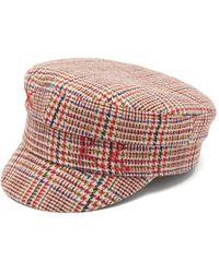 Ruslan Baginskiy - Check Weave Logo Embroidered Baker Boy Cap - Lyst