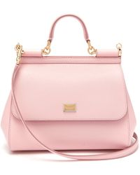 Dolce & Gabbana - Sicily Medium Dauphine Leather Bag - Lyst