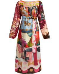 Rianna + Nina - Vintage Patchwork Silk Dress - Lyst