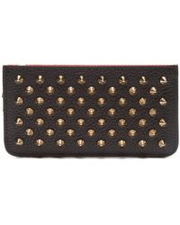 d9cdb212991 Christian Louboutin Pigalle Studded Patent Leather Clutch in Black ...