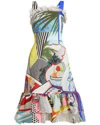 Mary Katrantzou Kara Pop Art Print Crepe Dress