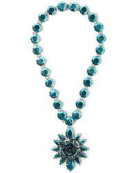 Prada - Rose Pendant Necklace - Lyst