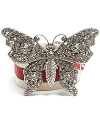 Gucci   Crystal-embellished Butterfly Elastic Belt   Lyst