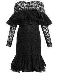 Giambattista Valli - Layered Ruffled Cotton-blend Macramé-lace Dress - Lyst