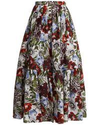 Erdem - Jupe en coton à imprimé floral Leigh - Lyst