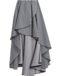 Caroline Constas   Adelle Gathered Cotton-gingham Skirt   Lyst