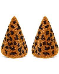 Rebecca de Ravenel - Aida Triangle Beaded Earrings - Lyst