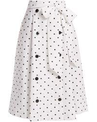 Lisa Marie Fernandez - Diana Polka Dot Linen Skirt - Lyst