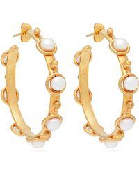 Sylvia Toledano - Petite Candy Pearl-embellished Hoop Earrings - Lyst