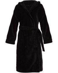 Versace - Medusa Cotton Hooded Robe - Lyst