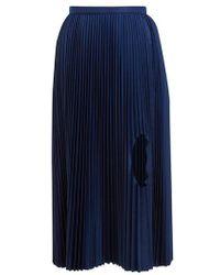 Toga - Cut-out Pleated Taffeta Midi Skirt - Lyst