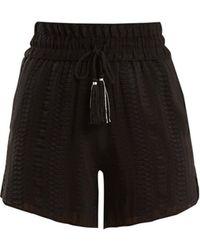 Zeus+Dione - Paxi Geometric Jacquard Silk Blend Shorts - Lyst