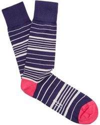 Paul Smith - Striped Cotton-blend Socks - Lyst