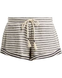 Skin - Clooney Striped Cotton Shorts - Lyst
