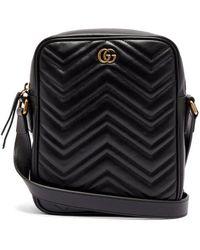 Gucci - - Marmont Mini Messenger Bag - Mens - Black - Lyst