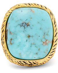 Aurelie Bidermann - Sapphire, Peridot & Yellow-gold Ring - Lyst