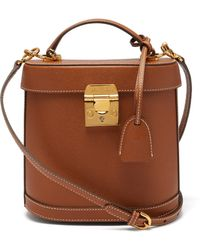 Mark Cross - Benchley Grained Leather Shoulder Bag - Lyst