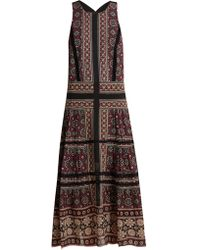 Sea - Ezri Crochet-trimmed Printed Georgette Dress - Lyst