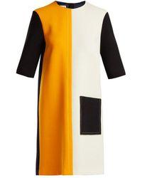 Marni - Colour-block Wool Dress - Lyst