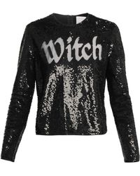Ashish - Round Neck Sequin Embellished Top - Lyst