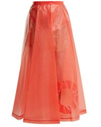 Toga - Laminate Cut Out Skirt - Lyst