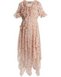 Preen By Thornton Bregazzi - Flora Peony-print Silk-chiffon Dress - Lyst