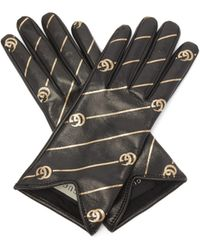 Gucci - GG Marmont Chevron-quilted Leather Gloves - Lyst