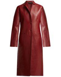Joseph   Anda Bonded-leather Coat   Lyst